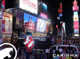 Using its Massivit 1800 3D Printer, Carisma produced ten 14 ft. high 3D printed graphics that were mounted and illuminated on buses throughout America ahead of the Ghostbusters release.