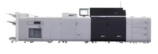 The Canon imagePRESS C10000VP color digital presses.