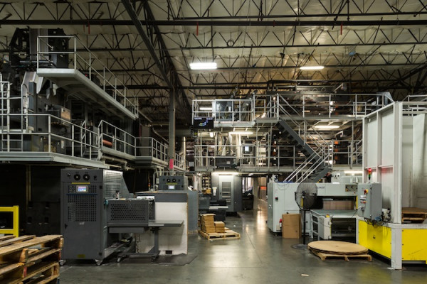 Creel's eight-color, 57˝ Goss Sunday press enables a wide range of print formats and in-line finishing for magazines, catalogs and newspapers.
