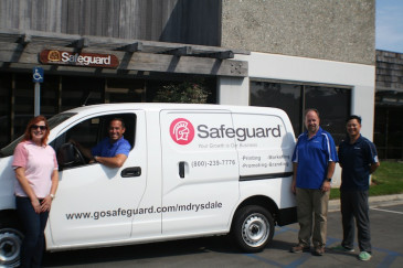 Michael Drysdale's Safeguard distributorship in Costa Mesa, Calif., purchased a well-decorated delivery van to fulfill orders and to increase visibility in the local community that it serves.