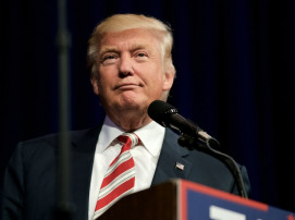 Republican presidential candidate Donald Trump Rallies in Aston, PA