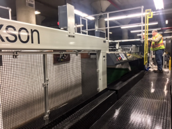 The new sheeter increases the firm's capacity by 20 million pounds annually.