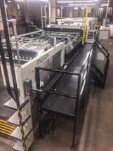 The Maxson MDH dual knife rotary sheeter was installed in September.