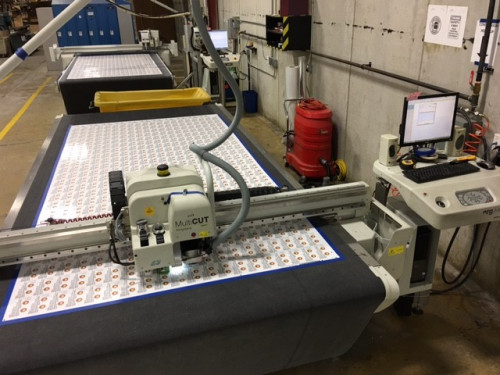 Impulse installed Automation Engine to reduce operator time, automate step & repeat layouts to their printers and Kongsberg cutting tables.