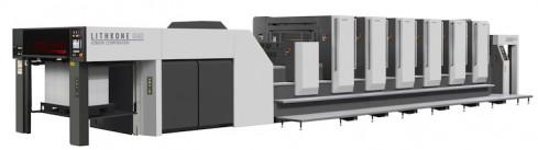 The Komori Lithrone (GL640C) press.