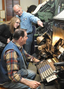 Saturday is Linotype Day at the Museum of Printing from 11 a.m. to 4 p.m.