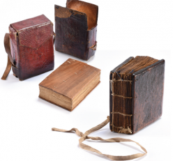 Examples of the ancient Ethiopian prayer books. Photo courtesy of Archival Products