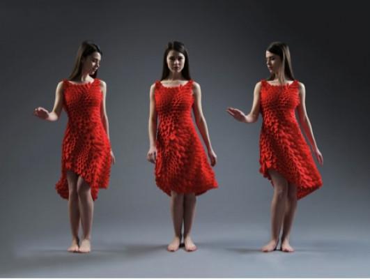 n e r v o u s systems designs 3D dress.