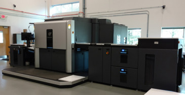 Pictured above is just one of the three HP Indigo 10000 digital presses that Vision has in operation.