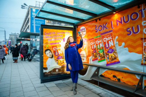 Choc iN Instagram printer, JCDecaux Creative Solutions Lithuania, November 2016