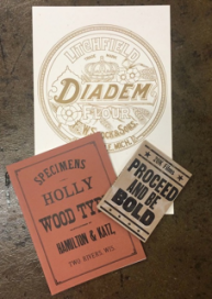 Samples from the museum's retail store include original posters, specimen book facsimiles and letterpress videos.
