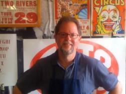 Jim Moran, museum director, Hamilton Wood Type & Printing Museum.