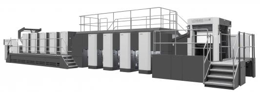 The new Komori Lithrone GX44RP offset press.
