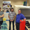 From the left, Mike Caissie, prepress supervisor; Jean-Francois Doucet, operator; and Paul Perry, Kodak specialist.