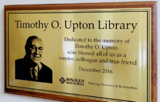 Timothy O. Upton Library plaque.