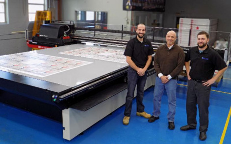 At Excelsus Solutions, from left to right: Chris Laniak, production manager; Mark Laniak, CEO; and David Laniak, VP of operations.