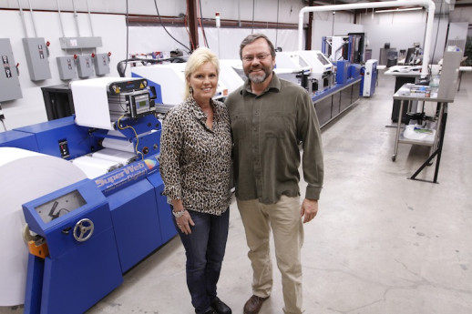 Alan and Lisa Thompon, owners of Flex.