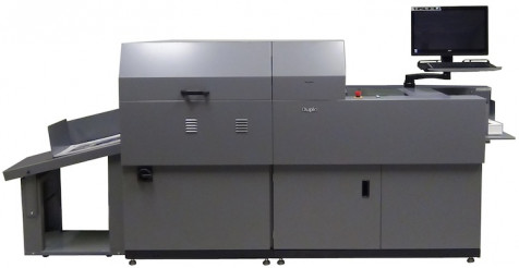 The DDC-810 Digital Spot UV Coater from Duplo USA.