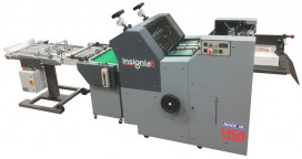 The Rollem Insignia6 Sheetfed flexo-magnetic Die Cutter.