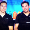 From left, Popular Ink's founders Dru Riess and Ray Salinas appear on CNBC's Blue Collar Millionaires.