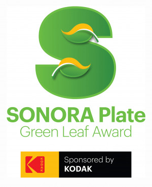 The SONORA Plate Green Leaf Award program, launched in 2014, recognizes excellence among Kodak customers that are leaders in environmental initiatives.