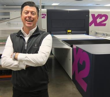 """Steve Zick, Executive Vice President, Innomark, says the Onset X2 """"offers the best quality in wide-format digital inkjet printing."""""""