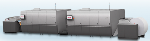 The Ricoh Pro VC60000 continuous-feed inkjet platform.