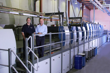 A Rapida 142 with 13 printing and finishing units at Anzpac in Sydney/Australia.