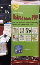 At the Haiyaa stand, visitors had the opportunity to see full-color barcodes, .25mm microtext, and interesting security solutions.