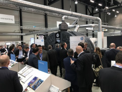 (Above) The HP PageWide Web Press T240 HD, which incorporates HP's High Definition Nozzle Architecture (HDNA) technology, generated strong interest during the event held in Switzerland.