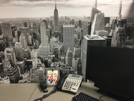 Working with a client, J-C Press created these special three-dimensional New York City skyline pieces and then installed them in their customer's offices.