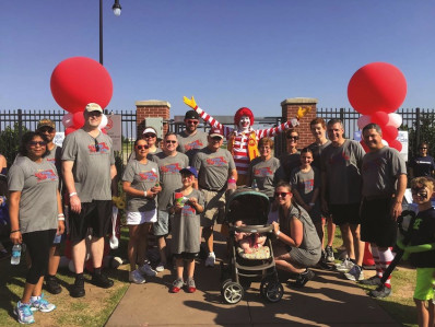 One extracurricular activity at Vox Printing is the Walk for Kids fundraiser that supports the Ronald McDonald House Charities.
