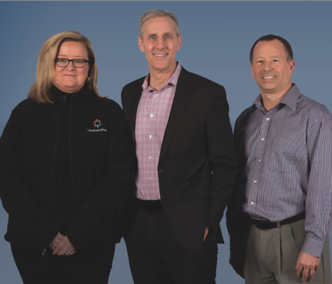 OneTouchPoint execs, from left: Joni Diderrich, president, Midwest Div.; Chris Illman, CEO; and Steve Henck, VP of operations.