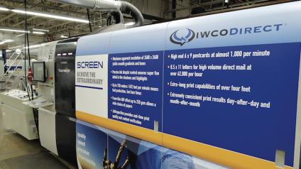 IWCO Direct's new new Screen Truepress Jet520HD high-definition inkjet web press.