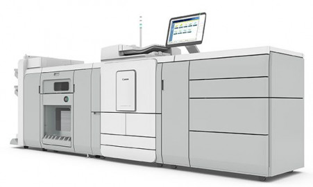 Side view of the new Canon varioPRINT 140 Series.