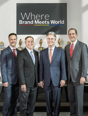 LCP Executives (from the left): Dan Murphy, senior VP/director of manufacturing; Rob Hilliard. executive VP/CFO; Tom Johnson, president/COO; and Pete Douglas, senior VP/director of sales and marketing.