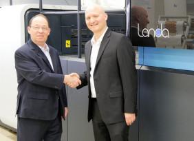First Landa S10 Nanographic Printing Press Now at Graphica Bezalel
