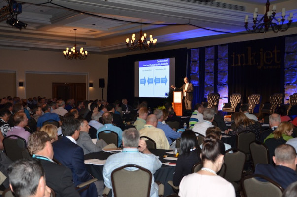 Marco Boer, Inkjet Summit conference chairman and VP, I.T. Strategies, presented the opening keynote.