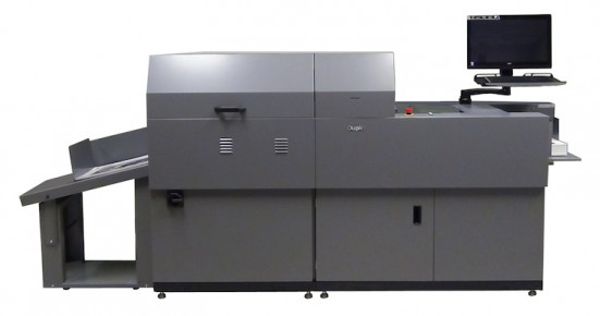 The DDC-810 digital spot UV coater from Duplo USA