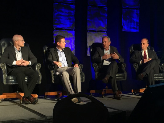 A Keynote Sponsor panel featuring HP's Eric Wiesner, Ricoh's Mike Herold, Xerox's Robert Stabler and Canon's Eric Hawkinson provided press manufacturers' views on the rapid growth of high-speed production inkjet printing.