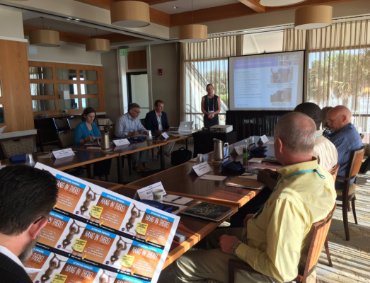 Konica Minolta holds a case study presentation during the Inkjet Summit.