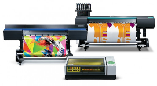 Roland DGA's latest inkjet devices in action.