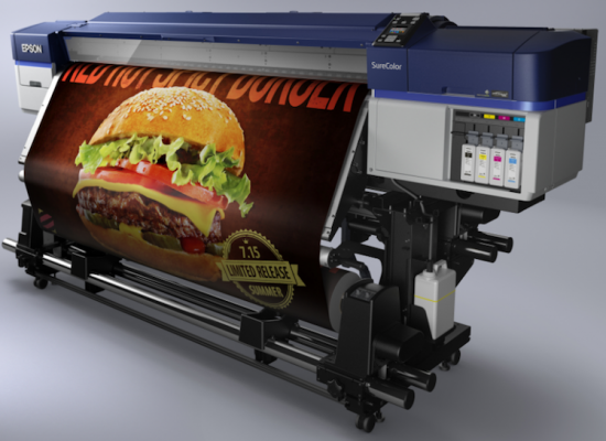 The Epson SureColor S40600 roll-to-roll solvent printer.