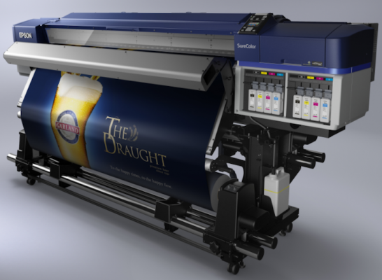 The Epson SureColor S60600 roll-to-roll solvent printer.