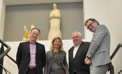 Pictured, from left to right: Patrick Dusee, managing director, RR Donnelley Eindhoven; Ingrid Van Werven, specialist, integrated marketing solutions, RR Donnelley Eindhoven; Jos Liekens, Xeikon; and Mathijs Meijer, business development manager, RR Donnelley Eindhoven.
