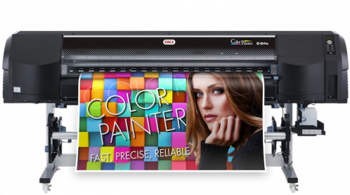 The ColorPainter E-64s wide-format printer from OKI Data Americas.