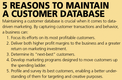 5 Reasons to Maintain a Customer Database
