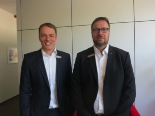 Christian-Marius Metz (left), CEO, IST Metz GmbH, and Holger Kühn, managing director, sales.