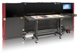 The EFI Pro 16h hybrid roll/flatbed inkjet printer.