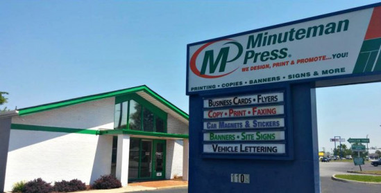 The Storefront of the Minuteman Press franchise in Chesapeake, Va.